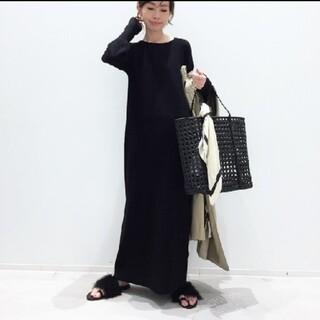 L'Appartement DEUXIEME CLASSE - 新品◇L'AppartementRib Knit ワンピース◇ブラック