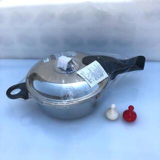 アサヒケイキンゾク(アサヒ軽金属)のアサヒ軽金属工業 ゼロ活力なべ 高級3リットル IH対応 未使用(鍋/フライパン)