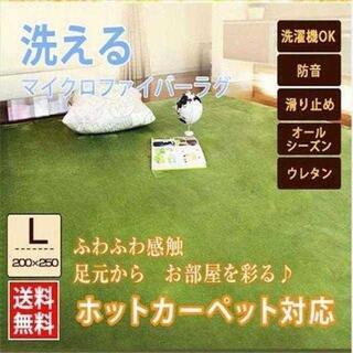売れ筋♪洗える ラグ マット カーペット 絨毯 200×250cm 【全6色,