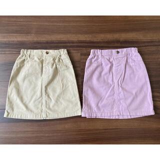 ジーユー(GU)のGU GIRLSカラースカート 130cm 2枚セット(スカート)