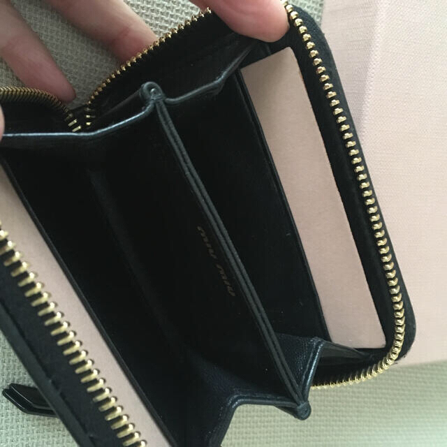 miumiu(ミュウミュウ)の【美品】ミュウミュウ マテラッセ コインケース  ミニ財布 レディースのファッション小物(財布)の商品写真