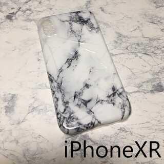 大理石 マーブル iPhone ケース カバー ホワイト XR(iPhoneケース)