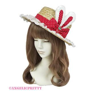 アンジェリックプリティー(Angelic Pretty)のLittle StrawberryストローHat(麦わら帽子/ストローハット)