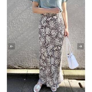 EDIT.FOR LULU - EDIT.FOR LULU フラワーバイアス マキシスカート 34サイズ グレー