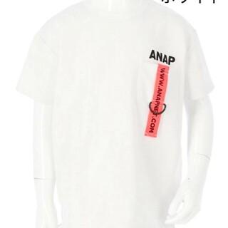 アナップキッズ(ANAP Kids)のANAPkids新品テープ付きTシャツホワイト(Tシャツ/カットソー)