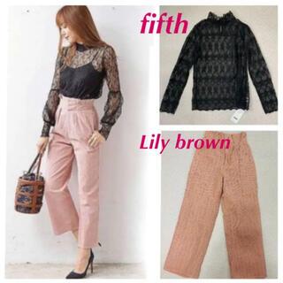 Lily Brown - fifth Lily brown チュールブラウス ワイドパンツ