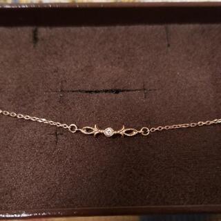 agete - agete k10 ピンクゴールド ブレスレット ダイヤ