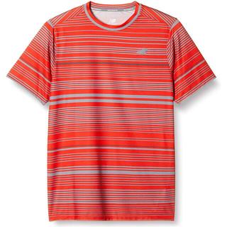 ニューバランス(New Balance)のnew balance ニューバランス テニスウェア 半袖Tシャツ赤メンズM新品(ウェア)