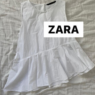 ZARA - ♡美品♡ZARA 白フリルブラウス M