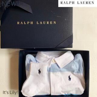 Ralph Lauren - ラルフローレン ロンパース 新作 春夏に ラガーボーダー 12m80cm