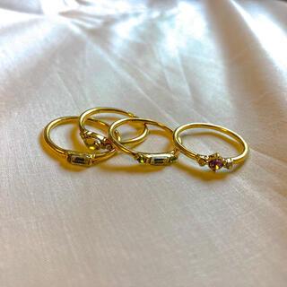 ノーブル(Noble)の୨୧ Vintage rétro gold crystal rings(リング(指輪))