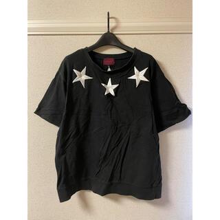 ダンケシェーン Danke Schon Tシャツ カットソー 半袖 刺繍 黒 F(Tシャツ/カットソー(半袖/袖なし))