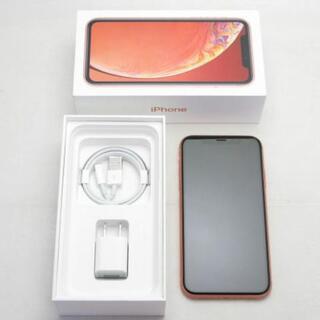 アイフォーン(iPhone)の【A】SIMフリー iPhoneXR 128GB コーラル (スマートフォン本体)