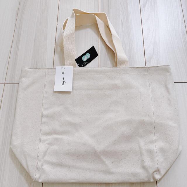 agnes b.(アニエスベー)の未使用 アニエスベー  トートバッグ  Lサイズ アイボリー レディースのバッグ(トートバッグ)の商品写真