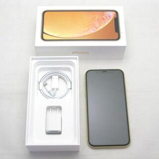 アイフォーン(iPhone)の【A】SIMフリー iPhoneXR 128GB イエロー(スマートフォン本体)