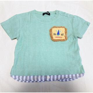 クレードスコープ(kladskap)の専用【kladskap】ライトグリーン ライオンTシャツ(Tシャツ/カットソー)