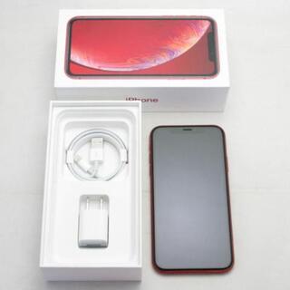 アイフォーン(iPhone)の【A】SIMフリー iPhoneXR 256GB (PRODUCT)RED(スマートフォン本体)