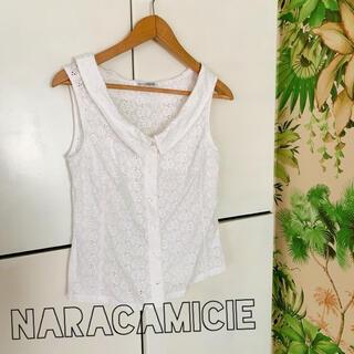 ナラカミーチェ(NARACAMICIE)のナラカミーチェ NARACAMICIE レース 襟付きブラウス(シャツ/ブラウス(半袖/袖なし))