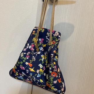 Chesty - シャルマントサック チェスティ コラボ 巾着 シャンタン ネイビー 幸せの鳥