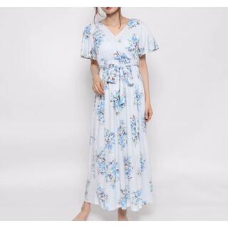 gelato pique - ジェラートピケ フラワーブーケロングドレス ワンピース 花柄 ドレス
