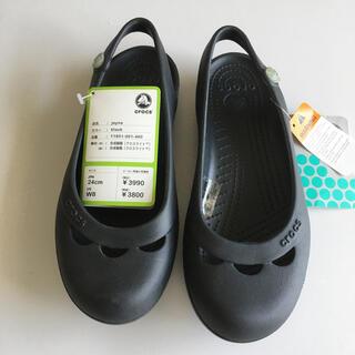 crocs - クロックス サンダル W8  黒