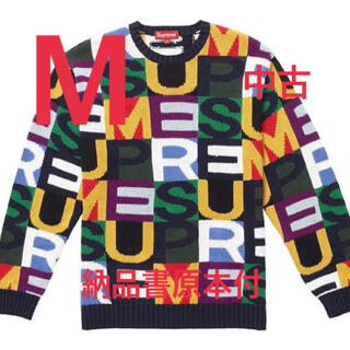 Supreme - SUPREME 18AW Big Letters Sweater Mサイズ