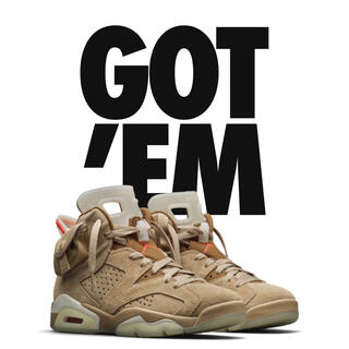 NIKE - NIKE AIR JORDAN 6 travis scott