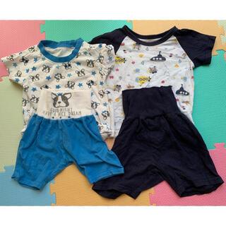 ベビー パジャマ  半袖 腹巻き付き 西松屋  80 まとめ売り(パジャマ)