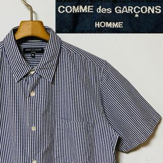 COMME des GARCONS - 希少!日本製!コム デ ギャルソンオム チェーンステッチ ギンガムチェックシャツ
