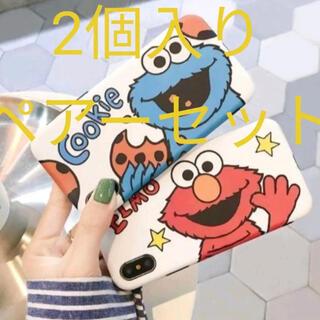【ペアーセット】セサミストリートIPhone ケース(Elmo, Cookie)