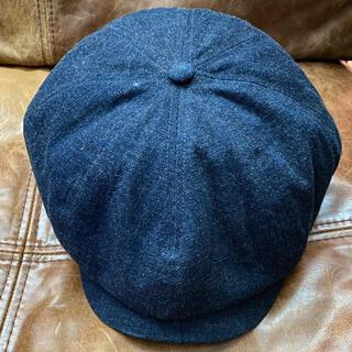 ダブルアールエル(RRL)のRRL キャスケット 帽子 ベレー帽 インディゴ(キャスケット)