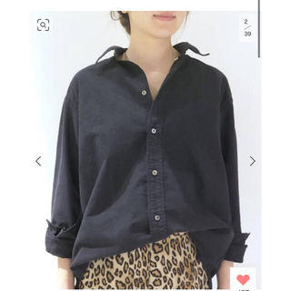 L'Appartement DEUXIEME CLASSE - AMERICANA OX Shirts◆ ネイビー 新品タグ付き
