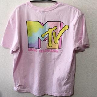 H&M - H&M MTVコラボ バックプリント タイダイ Tシャツ
