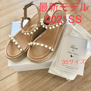 TSURU by Mariko Oikawa - ツルバイマリコオイカワ パールサンダル 最新モデル 35