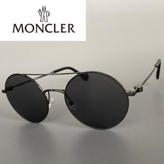 MONCLER - モンクレール ガンメタ グレー ツーブリッジ サングラス ブラック ダウン
