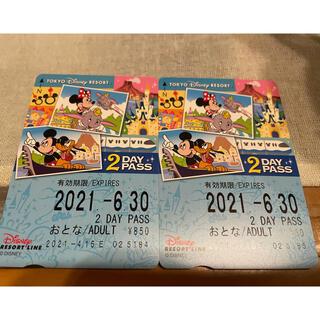 ディズニー(Disney)の☆ディズニーリゾートラインチケット☆未使用☆(遊園地/テーマパーク)