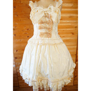 BABY,THE STARS SHINE BRIGHT - ベイビー オフホワイト ジャンパースカート&ヘッドドレス