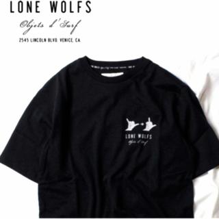 Ron Herman - LONE WOLFS   USA製🇺🇸 プリントクルーネックTシャツ