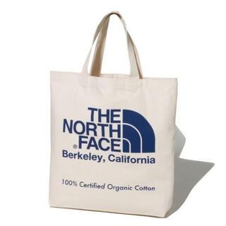ザノースフェイス(THE NORTH FACE)のノースフェイス オーガニックコットントート ブルー 国内正規品 新品未使用(トートバッグ)