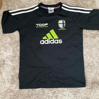 アディダス(adidas)の美品Tシャツ 140 黒(Tシャツ/カットソー)