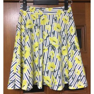 クイーンズコート(QUEENS COURT)のクイーンズコート ♡新品♡ フラワー柄スカート (ひざ丈スカート)