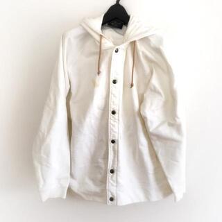 エーグル(AIGLE)のエーグル サイズL メンズ - 白 長袖/春/秋(ブルゾン)