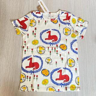 コドモビームス(こども ビームス)のmini rodini 120cm Tシャツ 子供 キッズ 半袖 夏服 総柄(Tシャツ/カットソー)