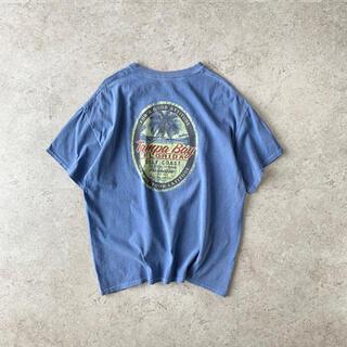 """ギルタン(GILDAN)の""""Tampa Bay FLORIDA"""" バックプリント Tシャツ ブルー 古着(Tシャツ/カットソー(半袖/袖なし))"""