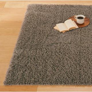 MUJI (無印良品) - 無印良品 シャギーラグ ベージュ200×140cm カーペット 絨毯 ラグ