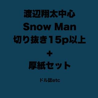 SnowMan 渡辺翔太中心切り抜き15P以上セット(アイドルグッズ)