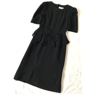 東京ソワール ブラックフォーマルワンピース ロングワンピース 冠婚葬祭(礼服/喪服)