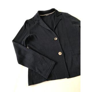 アクアスキュータム(AQUA SCUTUM)のアクアスキュータム コットンニットカーディガン 襟付き 羽織り セーター(カーディガン)