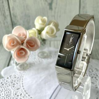 Saint Laurent - 【電池交換済み】Yves Saint Laurent 腕時計 バングル シルバー