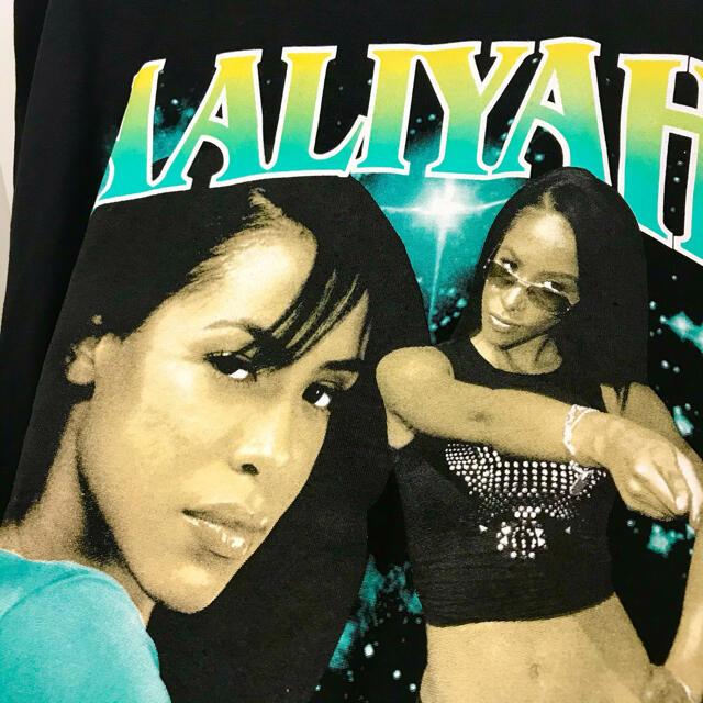 アリーヤ  Lサイズ ラップTシャツ Rap Tee AALIYAH メンズのトップス(Tシャツ/カットソー(半袖/袖なし))の商品写真